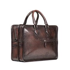 Discover the Berluti bags collections. Creations that combine elegance and creativity, the leather-goods manufacturers know-how and leather expertise. Best Travel Luggage, Briefcases, Leather Crafts, Leather Accessories, Leather Bags, Leather Working, Gentleman, Creations, Backpacks