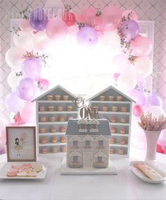 Our Little Doll Turns One! Dollhouse themed first birthday party via Pink Little Notebook