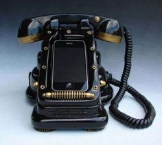 The iRetrofone Steampunk Dock is a Blast from the Past #phonestands trendhunter.com