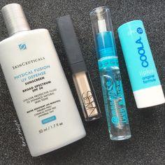 The 5 Minute Face ft. SkinCeuticals, Nars Radiant Creamy Concealer, Essence Lash & Brow Mascara, Coola liplux SPF 30 #makeup #beauty #skincare #minimal #instagram #blogger #iherb