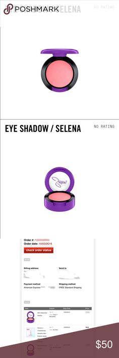 COMING SOON!MAC Selena eyeshadow Fotos y Recuerdos LIMITED EDITION MAC Selena Eye shadow in Fotos y Recuerdos. Took a very long time, but was able to get from Macy's online release. Please keep negative comments to yourself, kthanks! Will ship as soon as I receive it! MAC Cosmetics Makeup Eyeshadow
