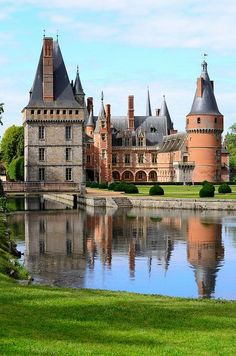 At the Chateau de Maintenon in France.