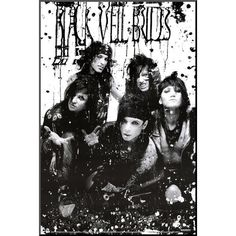 Black Veil Brides - B/W Band Poster ($7.99) ❤ liked on Polyvore
