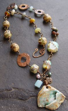 Tell It To The Deep Blue Sea  Porcelain Lampwork and