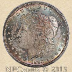 1890-CC Morgan Dollar MS65+ PCGS - Tailbar - Pop 1, Finest known!
