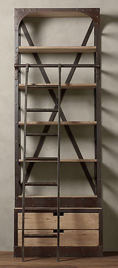 Ladder Bookcase, Bookshelves, Metal Projects, Wooden Diy, Wooden Furniture, Decoration, Plywood, Furnitures, Shelving