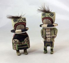 New traditional style Hopi Paqua couple is carved by Kevin Quanimptewa.