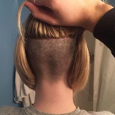 Cute And Easy Hairstyles For Short Hair Nape Undercut, Shaved Undercut, Shaved Nape, Undercut Hairstyles, Short Bob Hairstyles, Easy Hairstyles, Shaved Sides, Short Hair Styles Easy, Medium Hair Styles