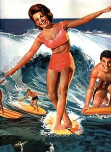 Surfing 50's girl by Lush8, via Flickr