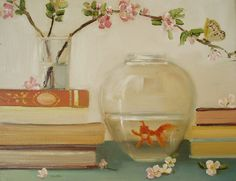 The Goldfish And The Butterfly Open Edition by janethillstudio