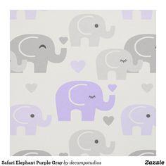 Safari Elephant Purple Gray Fabric Elephant Nursery Decor, Girl Nursery, Purple Rooms, Handmade Home Decor, Grey Fabric, Purple Grey, Room Decor, Purple Gray, Lilac Room
