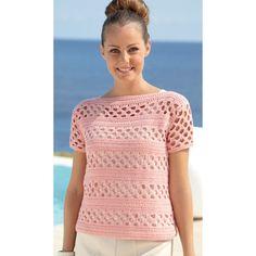 Sweaters in Sirdar Cotton DK - 7075 - Best Knitting Crochet Patterns Cardigan Au Crochet, Gilet Crochet, Crochet Cardigan, Crochet Yarn, Crochet Tops, Knit Poncho, Crochet Jacket, Crochet Round, Pull Crochet