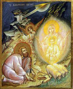 """ΜΡ.ΘΥ__Παναγια """" Η Φλεγομενη Βάτος"""" Images Of Christ, Religious Images, Religious Icons, Religious Art, Byzantine Icons, Byzantine Art, Pictures To Draw, Art Pictures, Life Of Jesus Christ"""
