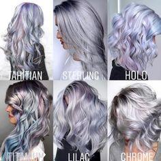 Silver Blonde Hair, Blue Hair, Green Hair, Silver Purple Hair, White Hair, Hair Dye Colors, Cool Hair Color, Red Scene Hair, 50 Shades