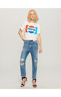 Jeans with rips, Jeans, blue, RESERVED