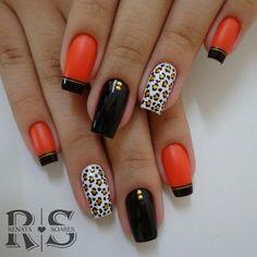 how I shape my nails! Tiger Nails, Leopard Nails, Mani Pedi, Pedicure, Nailart, Finger, Spring Nail Art, Gel Nail Designs, Fabulous Nails