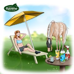 🏖️ Vos vacances, c'est avec ou sans poney ? 🐴 Moi je reste sur place cet été donc ce sera avec ! Et avec @ravene_labo pour protéger mon loulou du 🌞 et des 🐝 #vacances #ete #draw #drawhorse #photoshop #dessincheval #cheval #ravene #artisofinstagram #artist #digitalartist #wacom #horsedraw #digitaldraw Digital Draw, Illustrations, Place, Carousel, Images, Fair Grounds, Photoshop, Travel, Pony