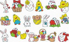 Free Embroidery Designs, Sweet Embroidery, Designs Index Page  huge Easter set