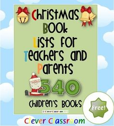 FREE Christmas Book Lists for Teachers and Parents - Text List PDF file    This 10 page file contains 540 Christmas themed children's books ready for small ears!    Your free Christmas book list is suitable for students aged 2-9 years.  FREE