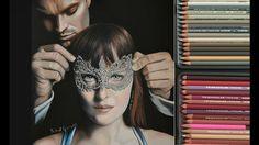 Drawing Fifty Shades Darker -  Dakota Johnson and Jamie Dornan as Christian Grey and Anastasia Steele