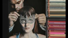 Drawing Fifty Shades Darker -  Dakota Johnson and Jamie Dornan as Christian Grey and Anastasia Steele