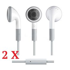 Earphones with MIC for Apple iPhone 4 4S 5 5S + iPods, $4.99