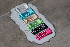 Polka Dot Infant Hair Clips Set of 6 / Itty by nellisbowtique