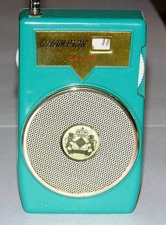 Vintage Champion 2-Transistor Boy's Radio, Model TR-600, Made in Japan.