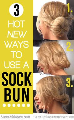 3 super easy tutorials to repurpose that sock bun of yours ;)