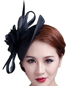 e4a31e2c49a51 Hats · Cocktail Pillbox Hat Fascinator Hair Clip Bridal Headwear for Women  Black     Be sure