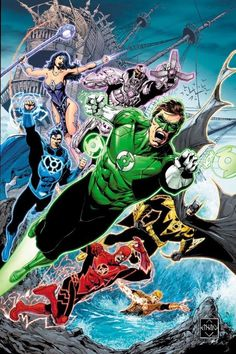 The Lantern League What if each ring chose a Justice League member? - Ethan Van Sciver Artist by Ethan Van Sciver Heros Comics, Dc Comics Superheroes, Dc Comics Characters, Dc Comics Art, Dc Heroes, Marvel Dc Comics, Dc Comic Books, Comic Art, Green Lantern Comics