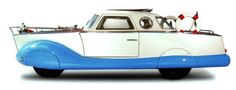 "Through the round window, part 10 Fiat 1100 Boat Car, 1953 by Carrozzeria Coriasco. NOT amphibious but a coachbuilt promotional vehicle for the ""Scarani"" Nautical School in Bologna"
