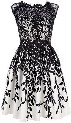 Blumarine White Semi Sheer Lace Dress