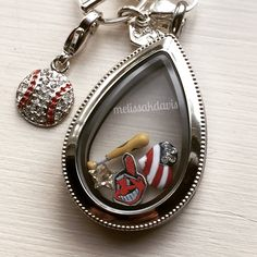 #MLB charms are in! How cute is that dangle? #indians #origamiowl #baseball #summer melissakdavis.origamiowl.com