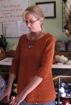 """Knitting Pure and Simple - 115 - Top Down Swing Pullover •6 sizes, finished 32"""" - 52""""; 18 sts to 4""""/10cm on a US8 #gauge 18sts=4"""""""