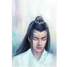 Lan Zhan, Lan Wanji, Hánguāng-jūn The Untamed Ear, Portraits, Instagram, Fashion, Moda, La Mode, Ears, Fasion, Portrait Paintings