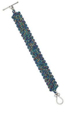 Bracelet with Seed Beads Free Tutorial Peyote stitch