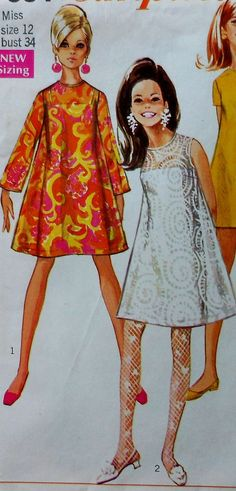 Retro Mini Dress Sewing Pattern
