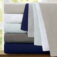 $115 - Queen Echelon Home Washed Belgian Linen Deep Pocket Sheet Set