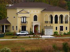 Yellow Stucco House For The Home Pinterest House And Exterior