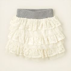 girl - outfits - skirt savvy - tiered lace skirt | Children's Clothing | Kids Clothes | The Children's Place