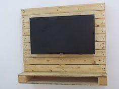 painel tv 32 de pallets c/ nicho pra dvd - pronta entrega!!