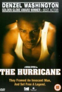 """The Hurricane, 1999...   The story of Rubin """"Hurricane"""" Carter, a boxer wrongly imprisoned for murder, and the people who aided in his fight to prove his innocence."""