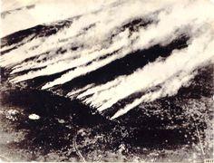 Ataque químico alemán, durante la segunda batalla de  Ypres.