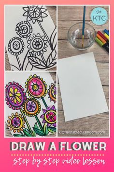Draw a Flower- Directed Drawing Video Lesson