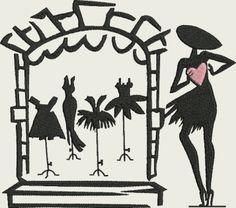 Vitrine de la petite robe noire
