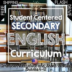 Do you want great interactive, differentiated, and practical materials for your secondary English Language Arts classroom? Student Centered Secondary English Curriculum American Literature and Short Stories- Also get Writing, Vocabulary, Organizers, Poetry, Many bonus activities. FREE SHIPPING! ($)