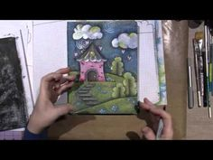 Hand Painted Composition Book Tutorial - YouTube