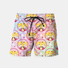 Usagi VS Sailor Moon Pattern Swim Shorts