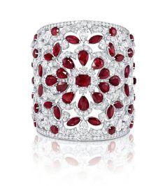 Graff ruby and diamond cuff to be shown at the Monaco rare jewels exhibition